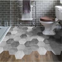 Funlife new creative hexagonal floor stickers kitchen bathroom DIY mosaic tile stickers
