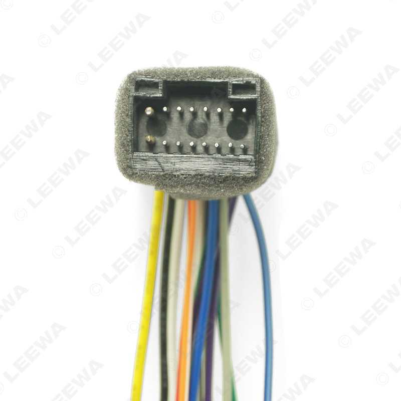 leewa car radio stereo wire harness plug cable for kenwood 16pin female  connector adapter #ca1606