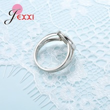 JEXXI Tree of Life 925 Sterling Silver Rings For Women Cubic Zirconia Silver Wedding Ring For Girl New Desigh Tree Accessory