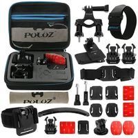 PULUZ 24 in 1 Bike Bicycle Mount Accessories Bundles Combo Kit for GoPro HERO 7 6 5 4 Session 4 3+ 21 Sports Cameras