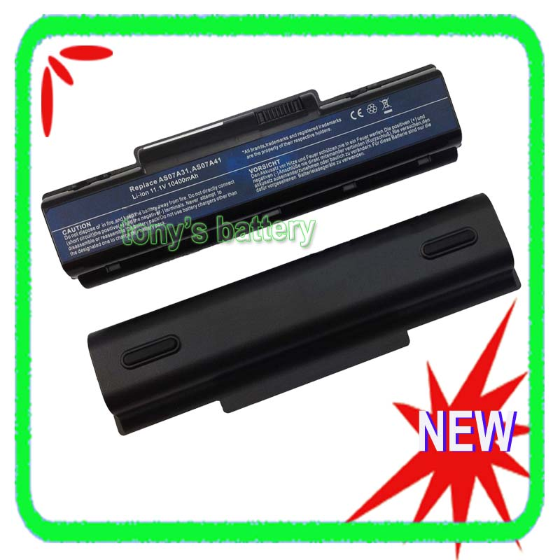10400mAh Battery for Acer Aspire 5738 5738G 5738Z 5738ZG 5735 5740 4740G 4710 4720Z 2930 4930 4920G AS07A31 AS07A41 10 8v 11 1v 12 cell laptop battery pack for acer aspire 5340 5542 5738z 5740 as5740 as5542 as07a75
