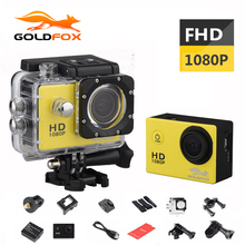 GOLDFOX 12MP 1080P HD Sport Action Camera 30M Go Waterproof Pro Hero 3 Sport DV Bike Helmet Cam Car Dvr Mini Video Cam