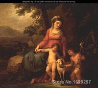 Девы Марии с Христом ребенка и Иоанном Крестителем по Angelica Кауфман ручная роспись высокое качество
