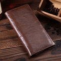 Oil Wax Genuine Leather Men Vintage Long Wallet Pocket Credit Card Holder Clutch Money Bag Male Famous Brand Cowhide Coin Purse