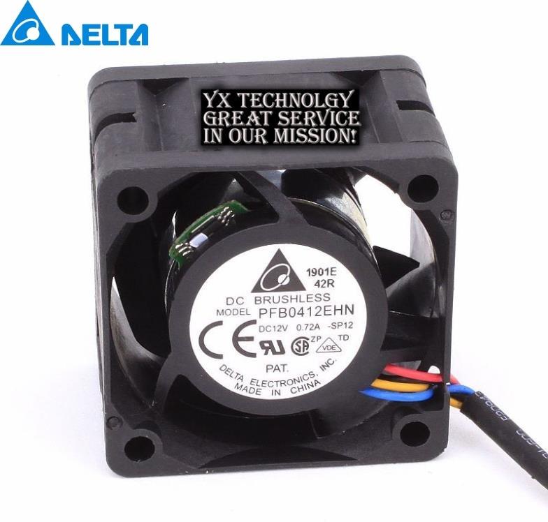 Delta Original 4028 4CM PFB0412EHN 12V 0 72A hyper violent double ball bearing fan 100pcs lot