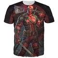 Nuevo Llega El Deadpool Comic Americano Badass T-shirt Camiseta Hombres Mujeres Personajes de dibujos animados 3d camiseta Divertida camisetas Casual tee camisas