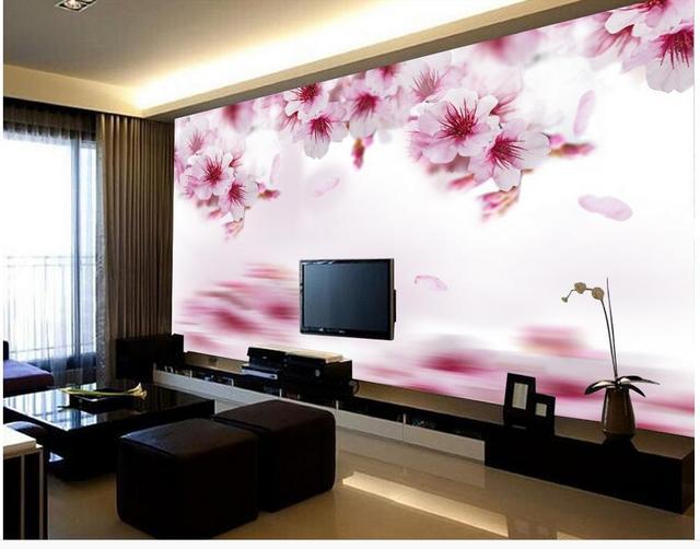 3d behang voor kamer elegant water reflectie orchideeën custom 3d
