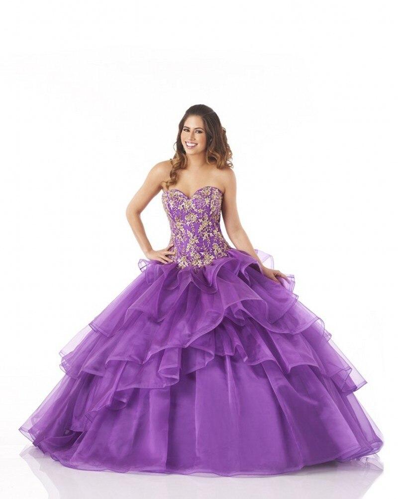 Looks - Purple and white sweet 16 dresses video
