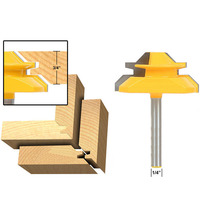 45 Degree Up To 3 4 Stock Lock Miter Router Bit 1 4 Shank