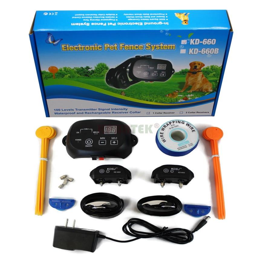 Ev ve Bahçe'ten Eğitim tasma kayışları'de KPHRTEK Gizli Köpek Çit topraklama kablosu Dostu Pet Containment Eğitim Yaka Elektronik Köpek şok çit sistemi'da  Grup 1