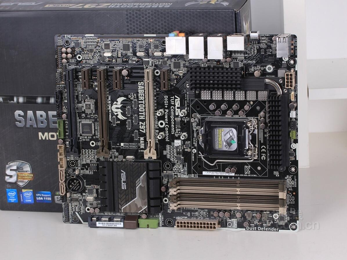 US $157 01 11% OFF|ASUS SABERTOOTH Z97 MARK 1 overclocking motherboard use  90%new No protective cover-in Motherboards from Computer & Office on