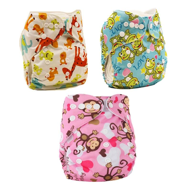 3 teile / los Baby Einstellbare Stoffwindel Unisex Wiederverwendbare Neugeborenen Baby Windeln Taschen Windel Weiche Atmungsaktive Töpfchen Hosen