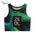 2016 Women Sumner New Harajuku Crop Top ZEOL Letter Print Sexy High Waist Tank Top Lady Loved Design Slim Tee Ts-079
