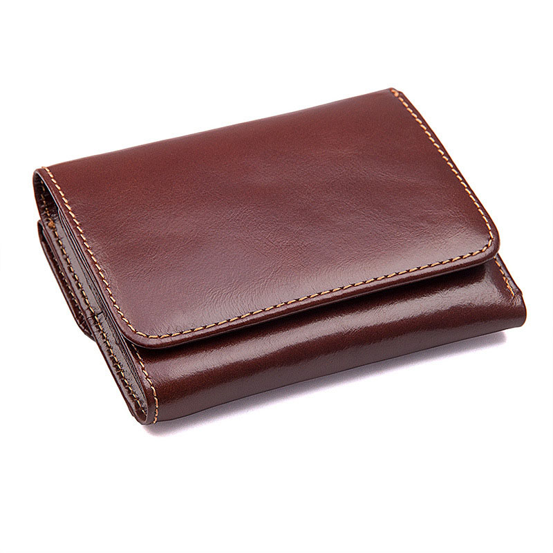 SIim Mens Zipper Leather Wallet ANTI-THEFT Wallet for Men with RFID Blocking