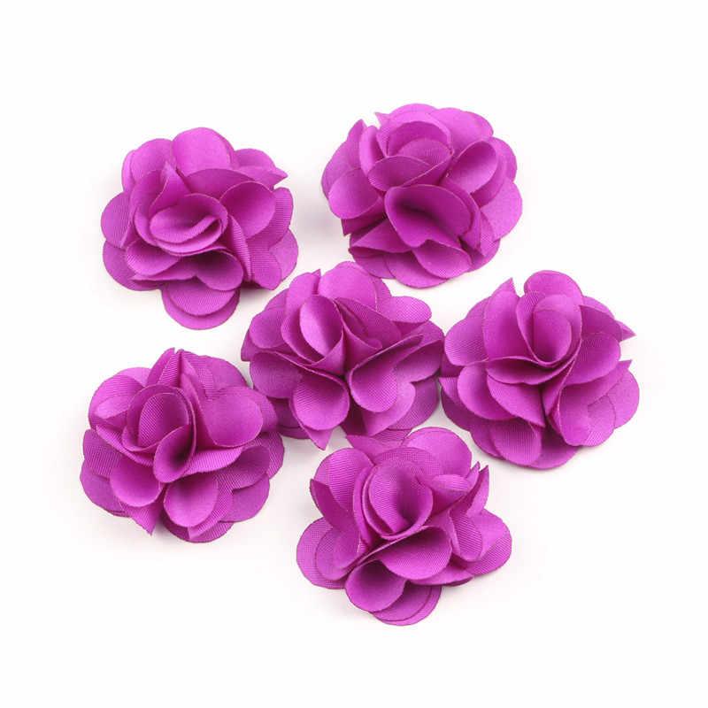 De moda 10 Uds tela Fribric abalorio floral con flecos de Base plana borla para decoración bricolaje colgante Vintage borlas