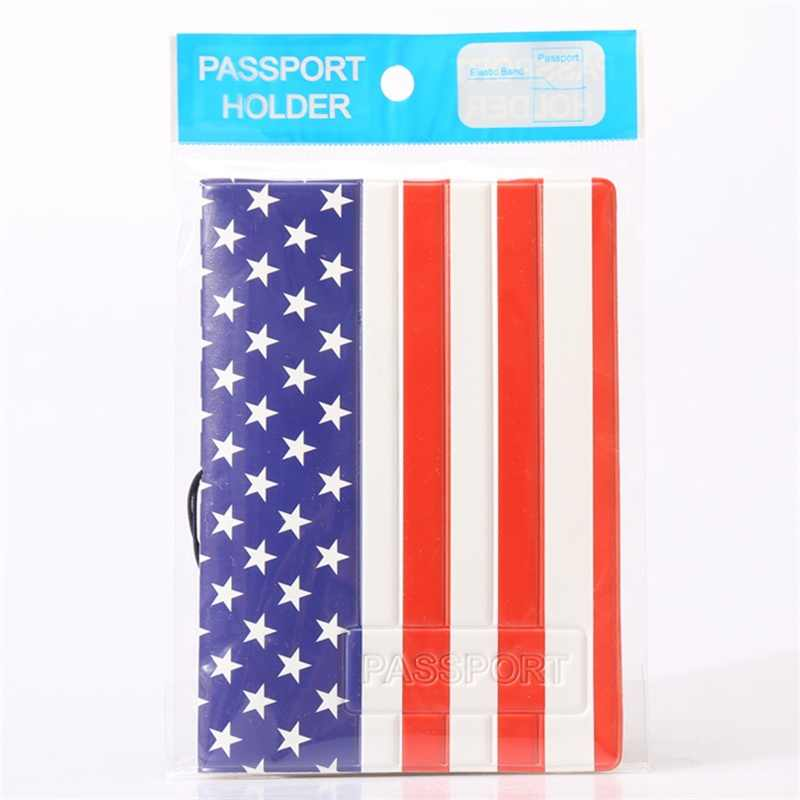2018 NEW National Flag Passport Holder PVC/PU Leather Passport Cover Travel  ID Card Case free shipping