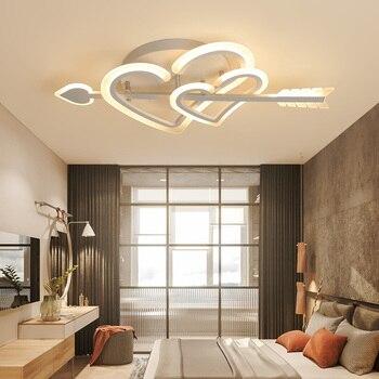 Cupid Design Modern led chandelier for living room bedroom wedding room girl room white color dimmable chandelier