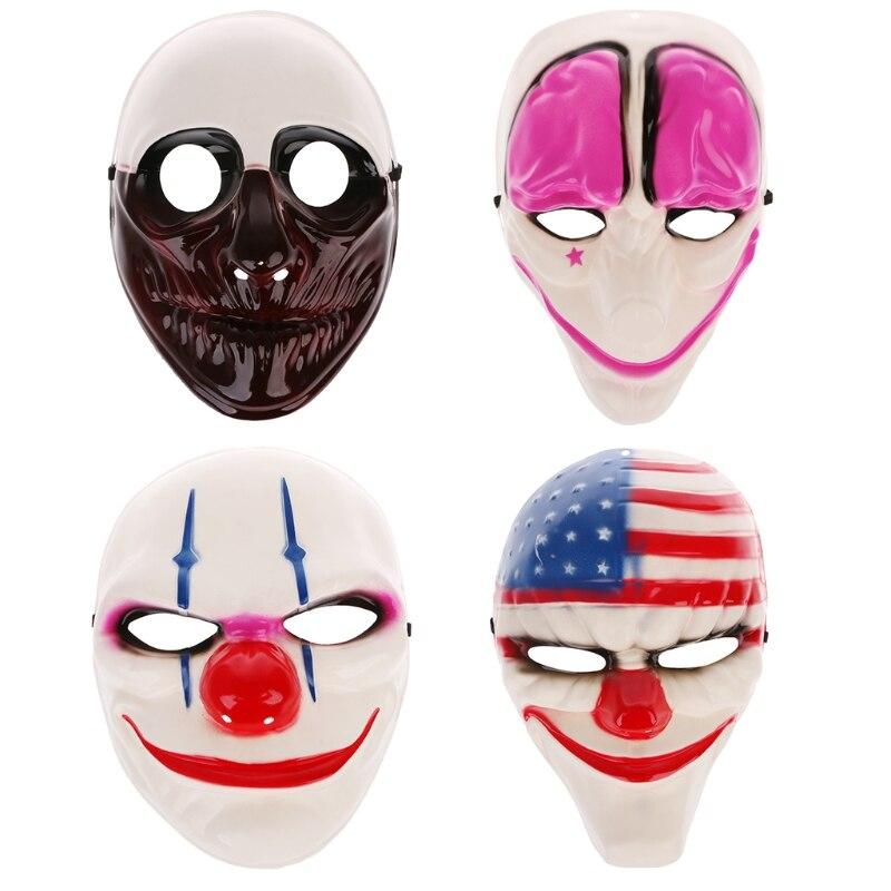 Halloween Clown Killer Masks Horror Funny Devil Full Face