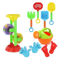 WYNLZQ Baby Bath Toy Plastic Watering Boy Girls Hourglass Beach Shovel Spade Play Sand Toy Sets Gifts for Kids Grownups Colorful