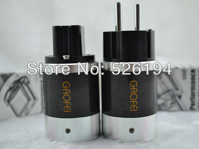 Free shipping one Pair Gaofei E50CFTB Rhodium Plated Carbon Fiber Female Schuko AC plug medical apparatus and instruments medical breast image for women s breast cancer examination