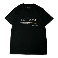 High Q Unisex Anime House Stark NOT TODAY T Shirts Game of Thrones Arya Stark NOT TODAY T Shirts Sleeves Shirts