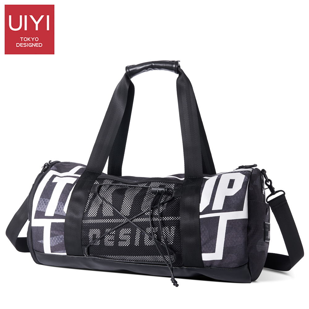 UIYI Mens Large Capacity Travel Duffle Casual travel bags round bucket shoulder bag mens High quality womens travel bags Hand