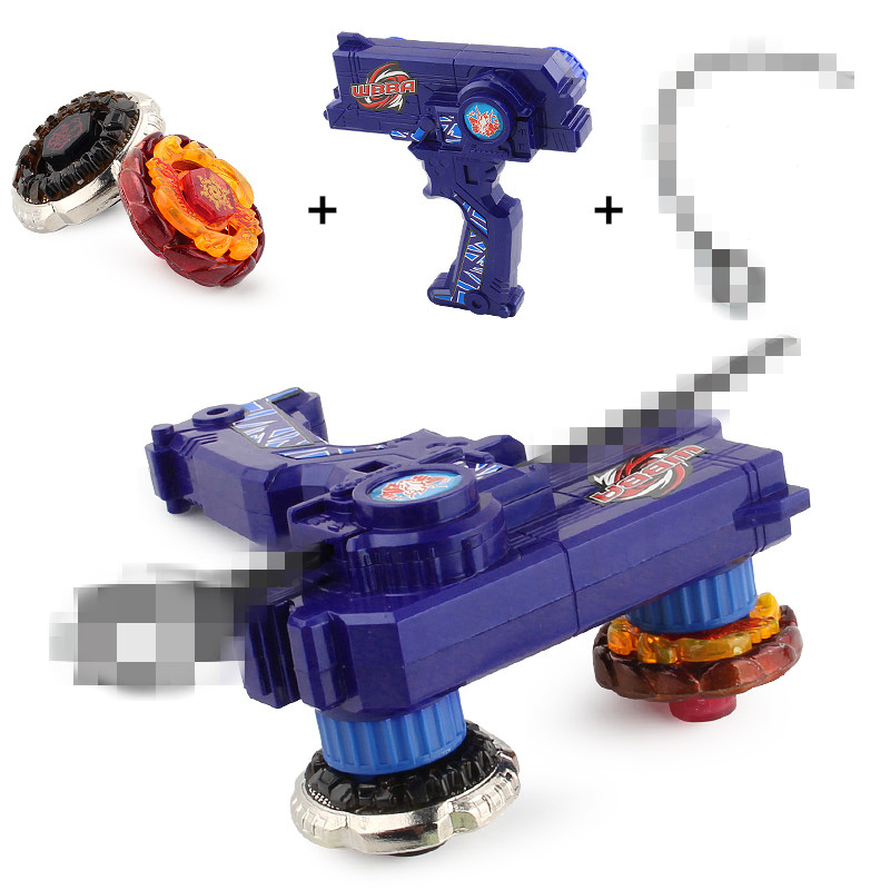 2pcs/set Beyblade Gyro+Plastic Launcher+Pull Line Spinning Top Fight Beyblade Classic Toys Metal Fusion Children Gifts #E