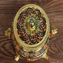 Incense Tibetan Buddhism Cloisonne Enamel  Eight Auspicious Dish Incense Burner Home Putting Decorations