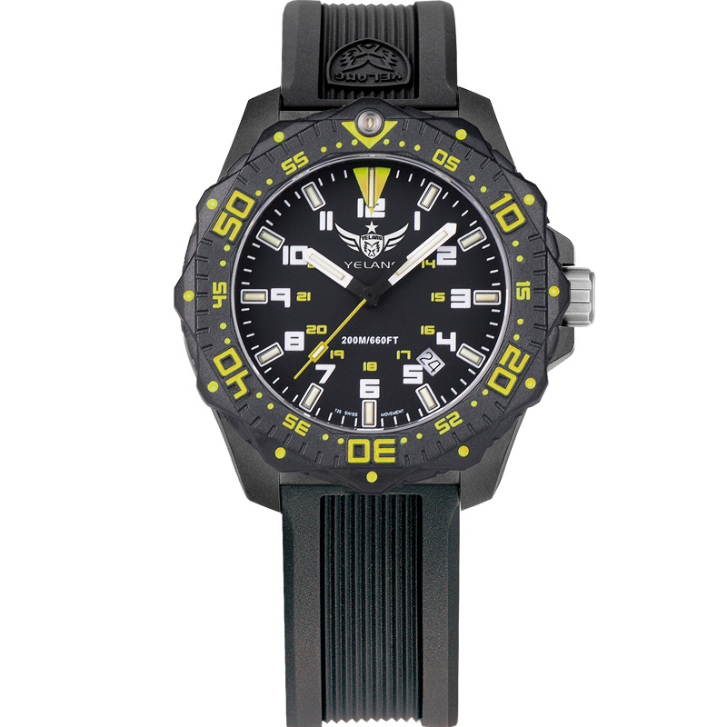 YELANG V2.2 women style tritium gas luminous waterproof sports military diving watch yelang v1015 upgrade version khaki number tritium gas yellow luminous men automatic mechanical business watch steel watchband
