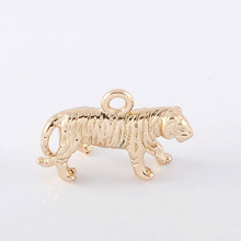 6PCS 11x18MM 24K Champagne Gold Color Plated Brass Tiger Charms Pendants High Quality Diy Jewelry Accessories