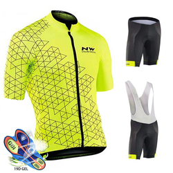 Cycling Jersey Set 2019 Pro Team Northwave Bicycle Cycling Clothing Men's Mountain cycling Maillot Ropa Ciclismo Bib Shorts Set