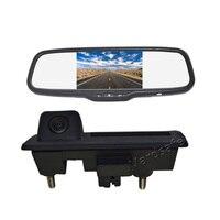 Vardsafe VS439C   Reverse Backup Camera + 5inch Clip on Rear View Mirror Monitor for Volkswagen Passat Tiguan Golf Touran Sharan
