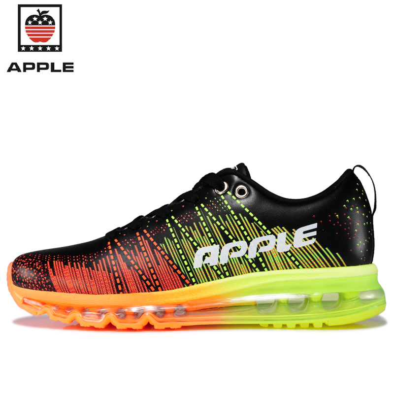 Apple 2017 Men's PU leather air cushion sneakers Trainers Jogging air sole 2014 male Microfiber waterproof running shoes AP-6S