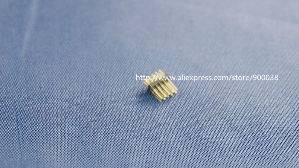 1000pcs 2x5 P 10 pin 1.27mm Pitch Pin Header male dual row Male straight gold flash Rohs Reach double rows pitch 1.27