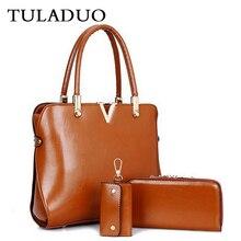 Tuladuo echtes leder composite-paket tasche bolsas femininas berühmte marke hohe qualität schultertasche sac ein haupt luxe vintage einkaufstasche
