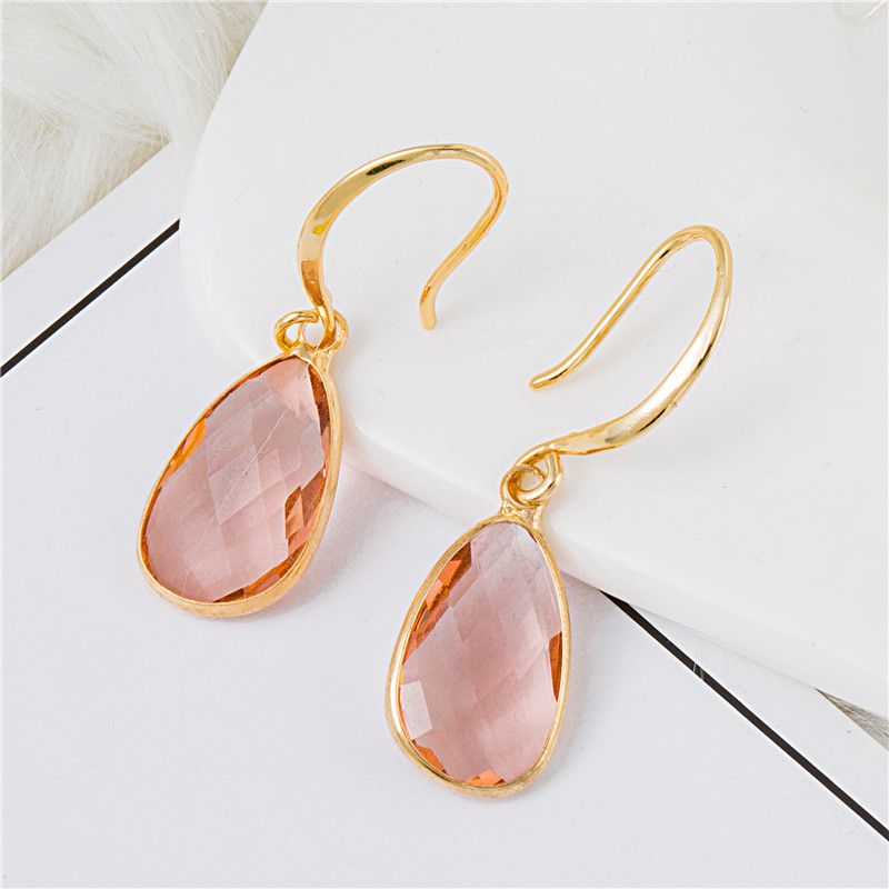 Youga New fashion crystal earrings simple and stylish high end crystal earrings wedding earrings for women in Drop Earrings from Jewelry Accessories