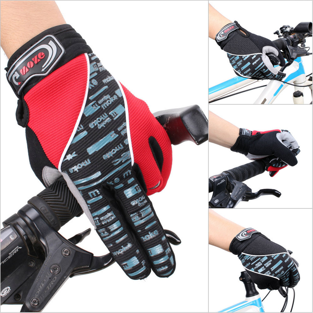 Cycling Bicycle Bike Gloves Silicone pad Long Fingered Cycling Non-slip Gloves Full Fingered Windproof Gloves Riding Equipment