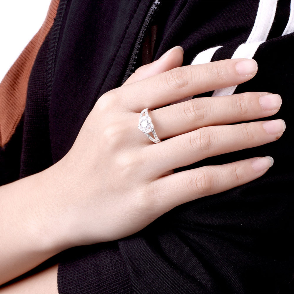 925 sterling silver rings with stone &Stamped 925 sweet heart with ...