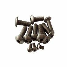 10 pçs/lote ISO7380 Titanium hex soquete parafuso de cabeça botão M2 M2.5 M3 M4 M5 M6