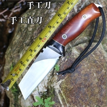 Hand straight outdoor knife straight list handmade knife high hardness tool outdoor hunting  9c steel
