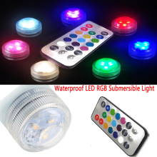IP68 Multi Kleur led dompelpompen verlichting zwembad licht voor vis vaas bowls aquarium verjaardag Decoratie led onderwater lamp(China)
