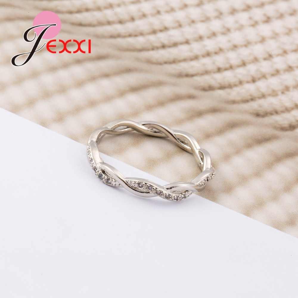 Nueva llegada elegante pura Plata de Ley 925 especial hermoso brillante diamante de imitación anillos finos buenas chicas/mujeres