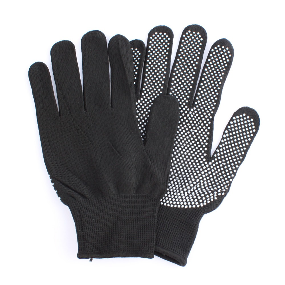 HOT Sale 1 Pair Hair Straightener Perm Curling Hairdressing Heat Resistant Finger Glove Black Grey Color #82683 1