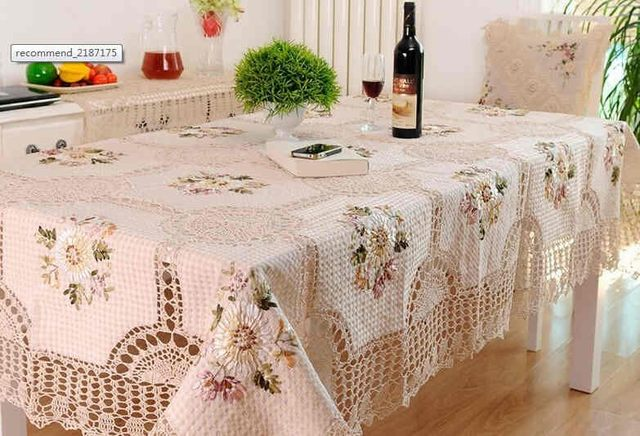 Fast Fashion Beautiful Designcrochet Small Round Table Cloth Cottoncover  Knitted Multi Purpose Gremial Decorationtetile
