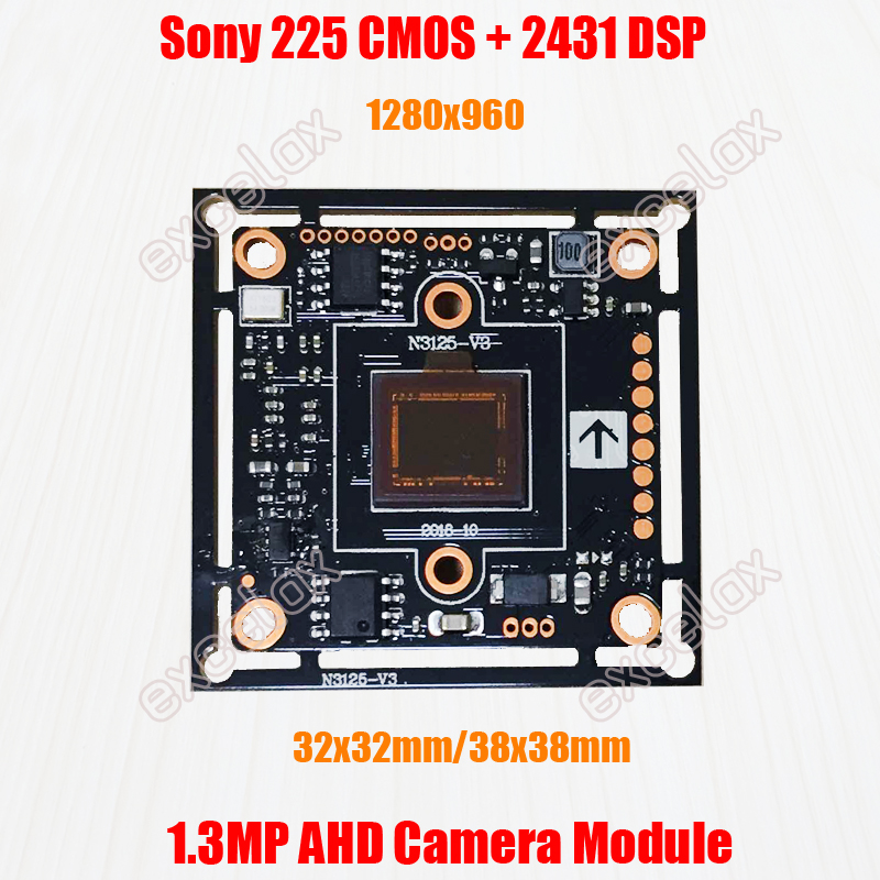 Модуль камеры видеонаблюдения IMX225 CMOS NVP2431H ISP 960P 1200TVL, аналоговый HD печатная плата 38x38 мм 32x32 мм, 1280x960, 1,3 МП, AHD|ahd camera module|hd camera boardanalog camera module | АлиЭкспресс