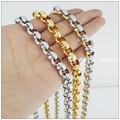 60cm*9mm 79g Free Shipping 316L Stainless Steel Silver Gold Round Cross Chain Fashion Necklace For Men Women,High Quality