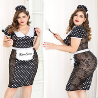 Plus Size Porn Women Sexy Underwear Lingerie Sexy Hot Erotic Dress Maid Cosplay Transparent Erotic Lingerie Porno Costumes