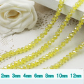 5040 AAA Top Quality L.C.Topaz AB Color Loose Crystal Glass Rondelle beads.2mm 3mm 4mm,6mm,8mm 10mm,12mm Free Shipping!