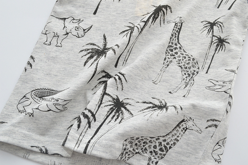 SAILEROAD 2-7Years Animal Giraffe Print Children Boys Tops Tees T-Shirts for Summer Baby Infant Boys Girls Shorts Clothes 3