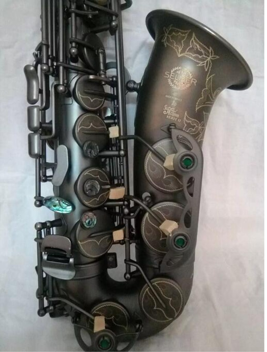 High Quality France Selmer 80 Saxophone Alto Saxophone E-flat instrument music playing Super professional promotional Free wholesale france 54 bronze copy henry selmer tenor saxophone instrument reference